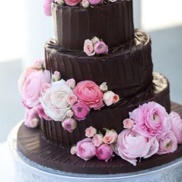 Шоколадные свадебные торты